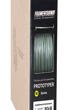 M-SOFT Filamentarno! Серебряный металлик, 1.75 мм, 750 гр.