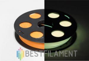 Светящийся в темноте PLA пластик Bestfilament для 3D-принтеров, цвет Лимонный, 0,5 кг (1,75 мм)